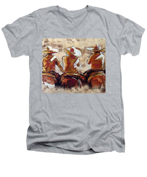 3 . C H A R R O  . F R I E N D S Men's V-Neck T-Shirt