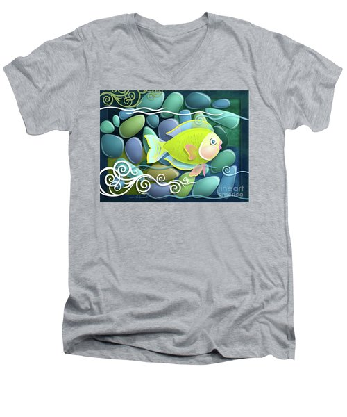 Chartreuse Men's V-Neck T-Shirt