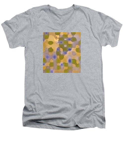 Chartreuse Two  By Rjfxx. Original Abstract Art Painting. Men's V-Neck T-Shirt by RjFxx at beautifullart com