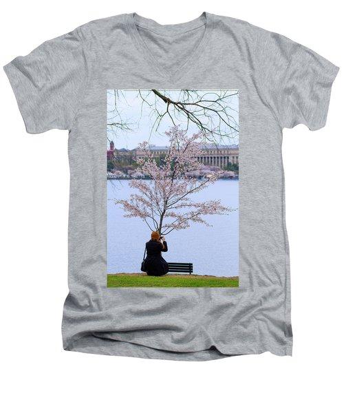 Chasing Blossoms Men's V-Neck T-Shirt