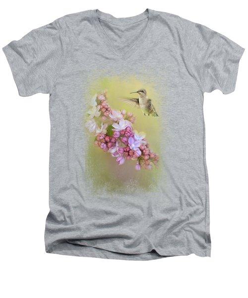 Chasing Lilacs Men's V-Neck T-Shirt by Jai Johnson
