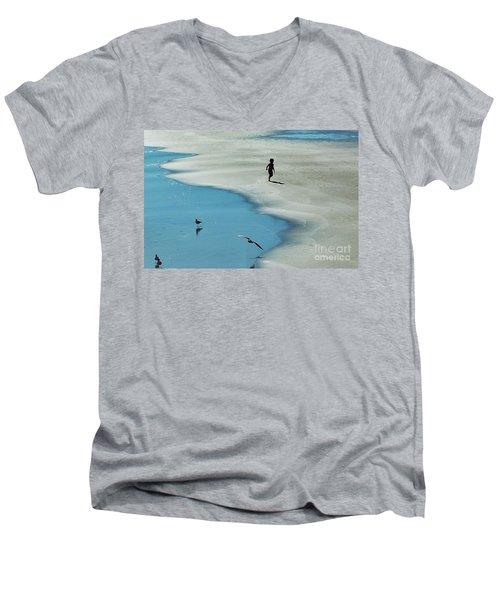 Chasing Shadows  Men's V-Neck T-Shirt