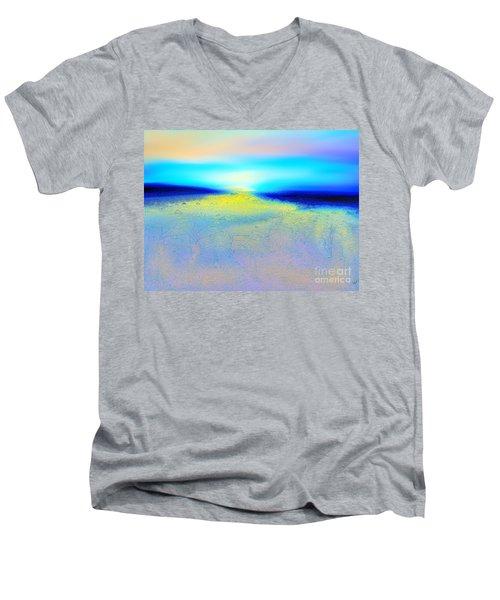 Chasing The Sun  Men's V-Neck T-Shirt by Yul Olaivar