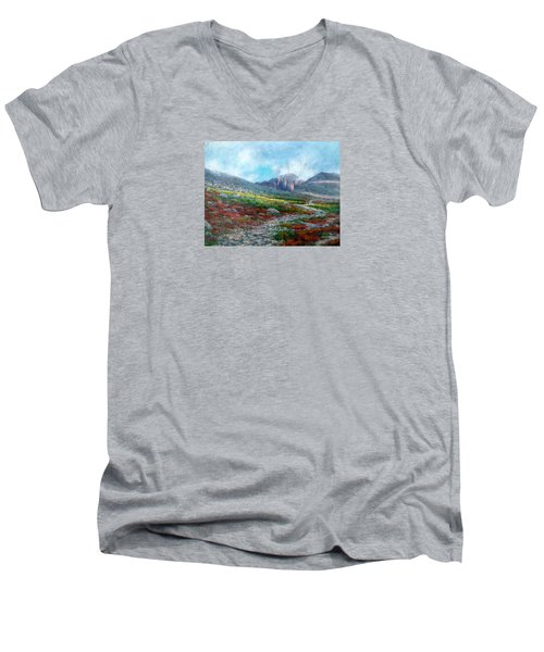 Chasm Lake Trail Men's V-Neck T-Shirt