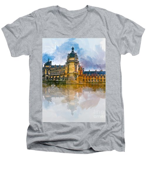 Chateau De Chantilly Men's V-Neck T-Shirt