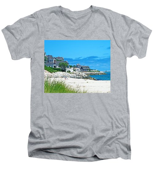 Chatham Cape Cod Men's V-Neck T-Shirt by Lizi Beard-Ward