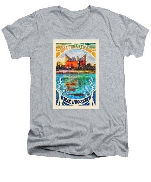 Chattanooga Aquarium Poster Men's V-Neck T-Shirt by Steven Llorca