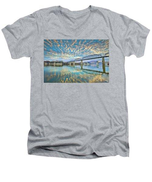 Chattanooga Has Crazy Clouds Men's V-Neck T-Shirt by Steven Llorca