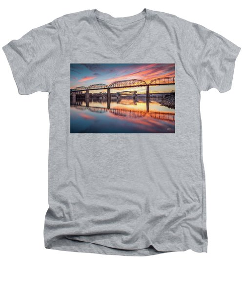Chattanooga Sunset 5 Men's V-Neck T-Shirt