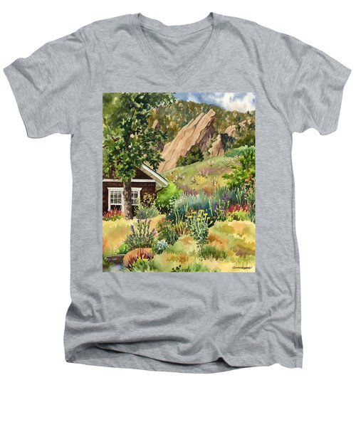 Chautauqua Cottage Men's V-Neck T-Shirt by Anne Gifford