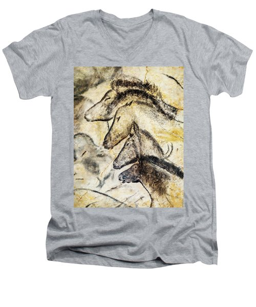 Chauvet Horses Men's V-Neck T-Shirt