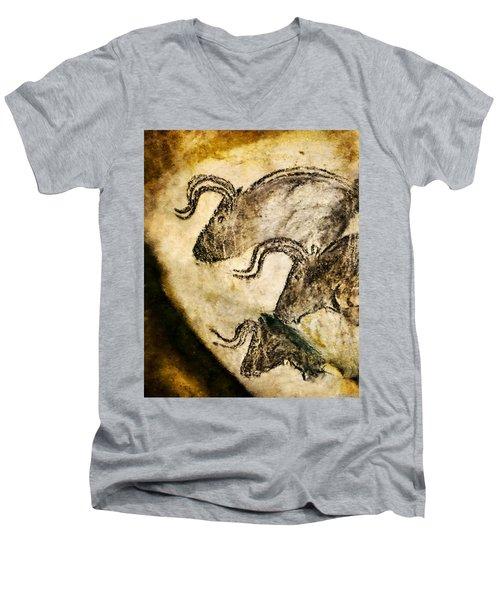 Chauvet - Three Aurochs Men's V-Neck T-Shirt