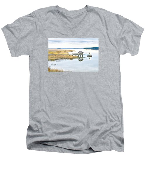 Chechessee Creek Dock Men's V-Neck T-Shirt