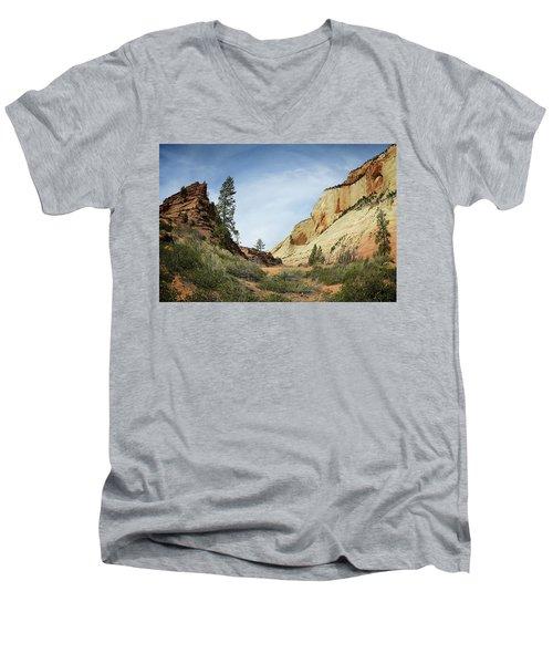 Checkerboard Mesa Men's V-Neck T-Shirt