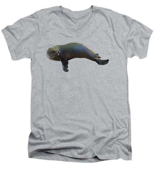 Cheeky Seal Men's V-Neck T-Shirt