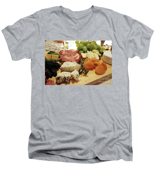 Cheese And Meat Men's V-Neck T-Shirt