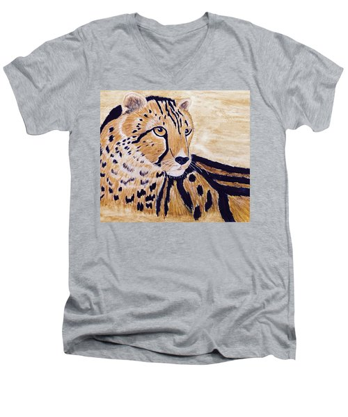 Cheeta Men's V-Neck T-Shirt