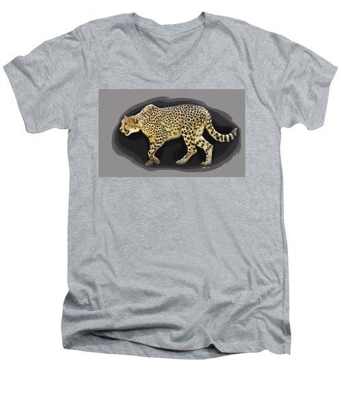 Cheetah 10 Men's V-Neck T-Shirt