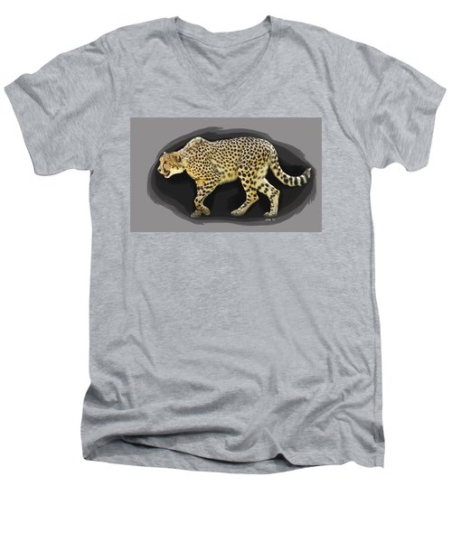 Cheetah 10 Men's V-Neck T-Shirt