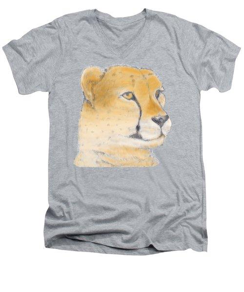 Cheetah 3 Men's V-Neck T-Shirt by Gilbert Pennison