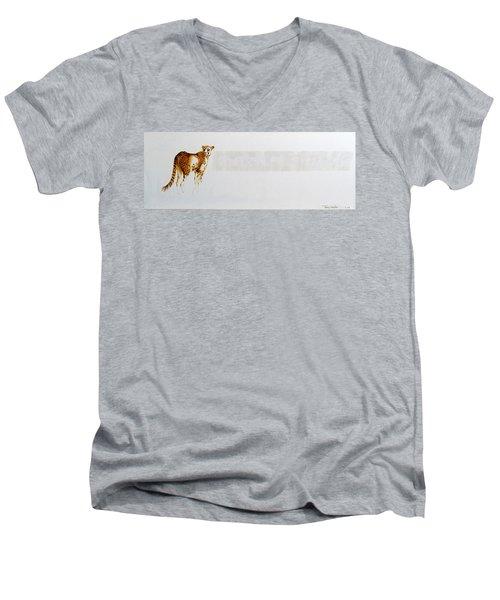 Cheetah And Zebras Men's V-Neck T-Shirt