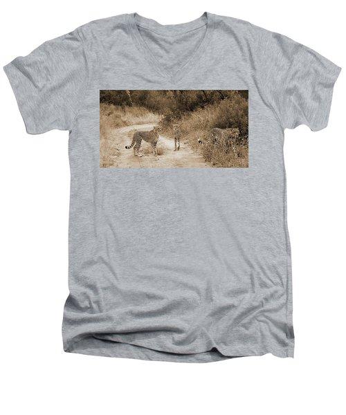 Cheetah Brothers Men's V-Neck T-Shirt