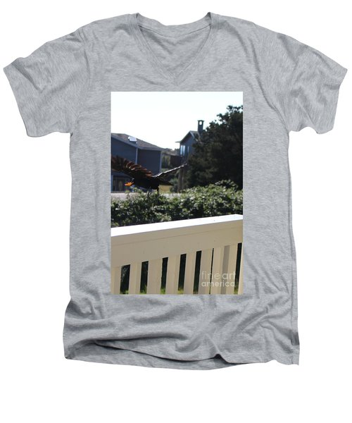 Men's V-Neck T-Shirt featuring the photograph Cheeto Bandido by Marie Neder
