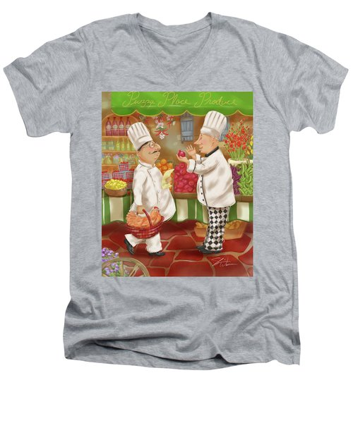 Chefs Go To Market Iv Men's V-Neck T-Shirt