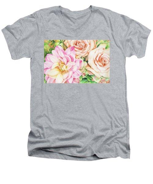 Chelsea's Bouquet Men's V-Neck T-Shirt