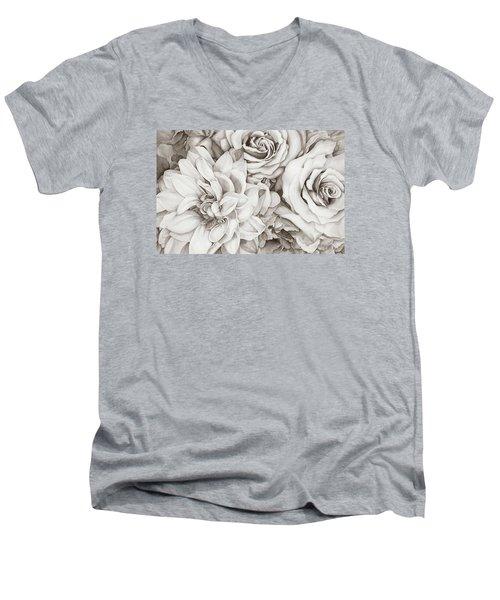 Chelsea's Bouquet - Neutral Men's V-Neck T-Shirt
