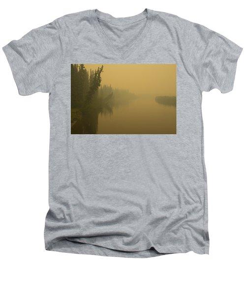 Chena River Men's V-Neck T-Shirt