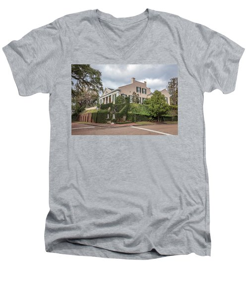 Cherokee House Natchez Ms Men's V-Neck T-Shirt