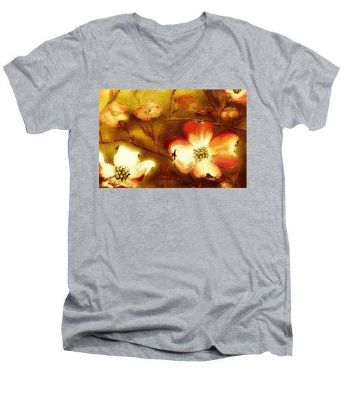 Cherokee Rose Dogwood - Glow Men's V-Neck T-Shirt
