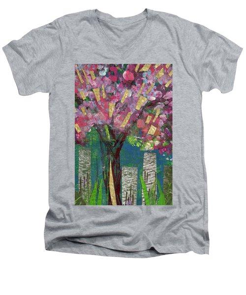 Cherry Blossom Too Men's V-Neck T-Shirt