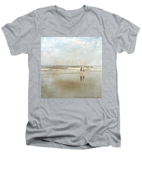 Cherry Grove Beach Walk Men's V-Neck T-Shirt