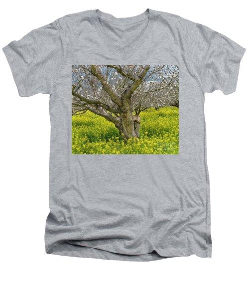 Cherry Orchard 8 Men's V-Neck T-Shirt