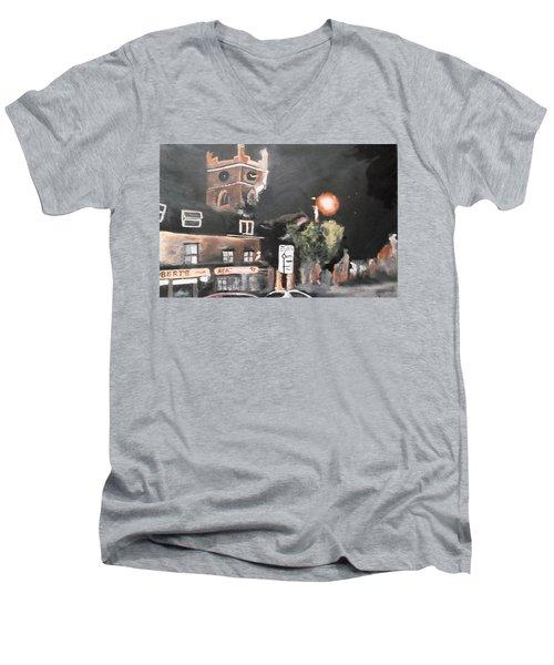 Chertsey At Night 2 Men's V-Neck T-Shirt by Carole Robins