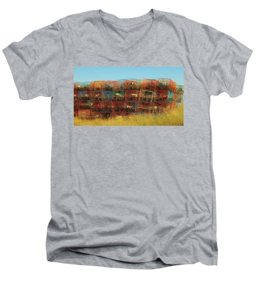 Chesapeake Bay Crabbing Men's V-Neck T-Shirt