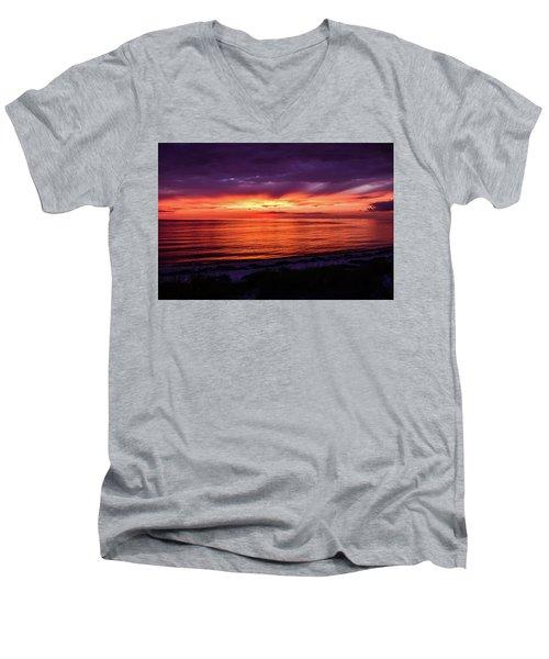 Chesapeake Bay Sunset Men's V-Neck T-Shirt
