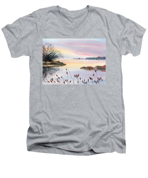 Chesapeake Bay Sunset Men's V-Neck T-Shirt