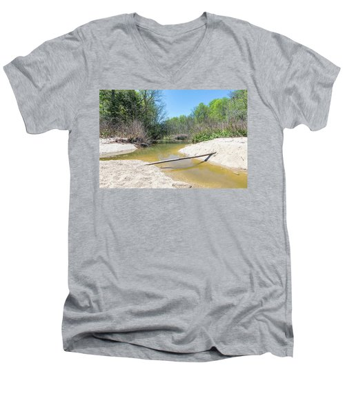 Men's V-Neck T-Shirt featuring the photograph Chesapeake Tributary by Charles Kraus