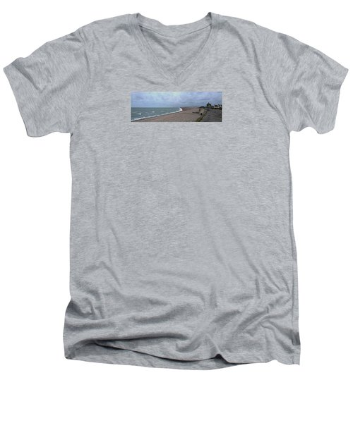Chesil Beach November 2013 Men's V-Neck T-Shirt