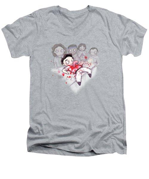 Chestburster  Men's V-Neck T-Shirt