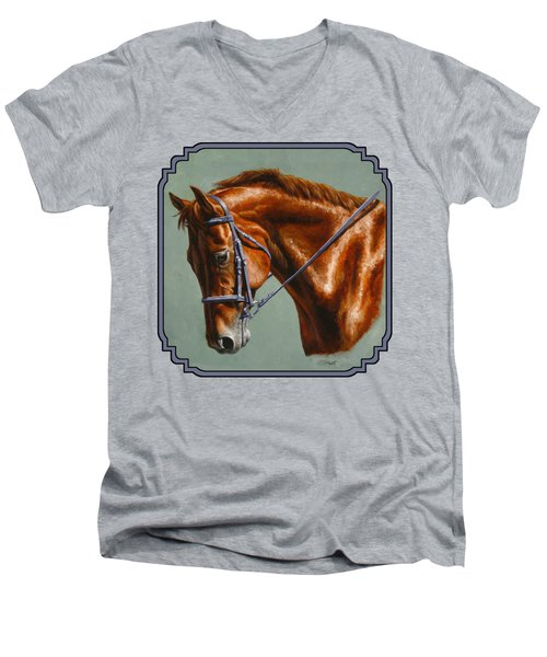 Chestnut Dressage Horse Phone Case Men's V-Neck T-Shirt