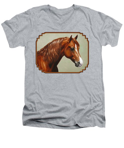 Chestnut Morgan Horse Phone Case Men's V-Neck T-Shirt