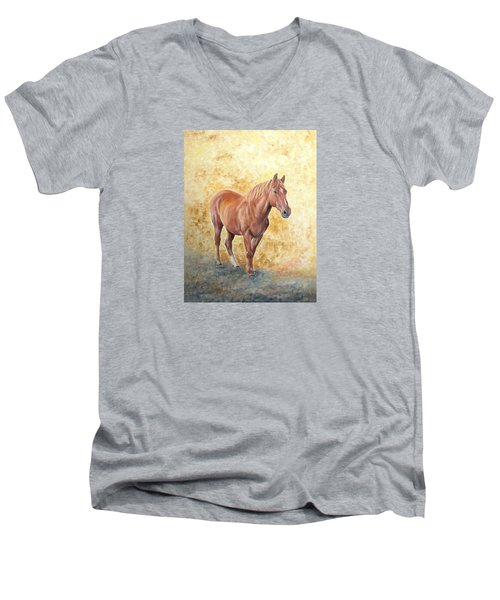 Chestnut Racehose Men's V-Neck T-Shirt