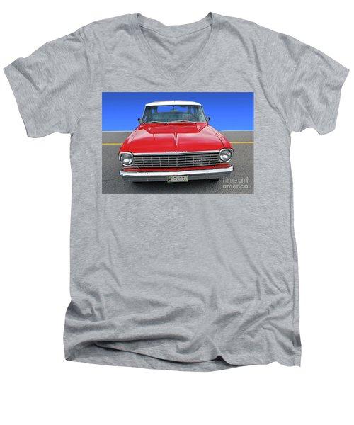 Chev Wagon Men's V-Neck T-Shirt