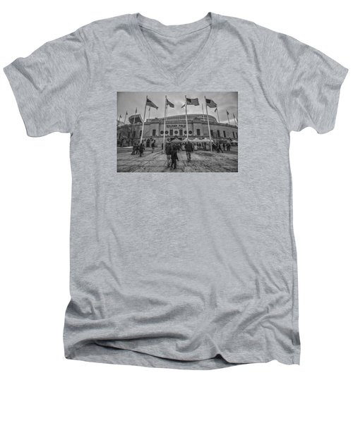 Chicago Bears Soldier Field Black White 7861 Men's V-Neck T-Shirt