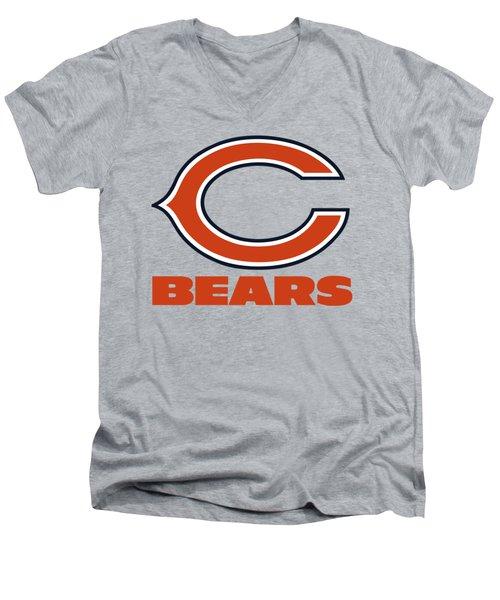 Chicago Bears Translucent Steel Men's V-Neck T-Shirt