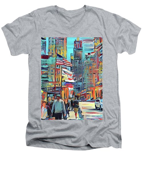 Chicago Colors 5 Men's V-Neck T-Shirt